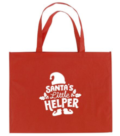 Kerst XXL Shopper SANTA'S LITTLE HELPER