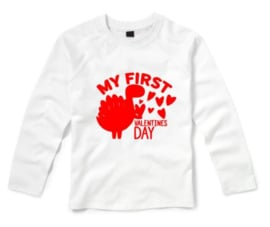 Valentijns shirt MY FIRTS VALENTINES DAY