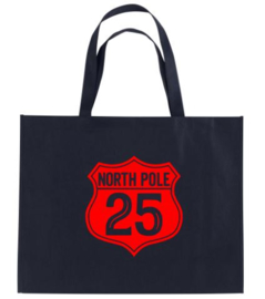 Kerst XXL Shopper NORTH POLE 25