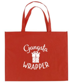 Kerst XXL Shopper GANGSTA WRAPPER