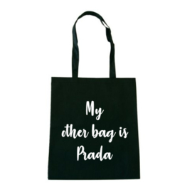 Canvas tas MY OTHER BAG IS PRADA