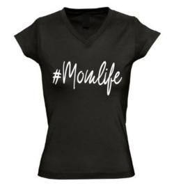 Dames T'shirt #Momlife