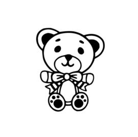 TEDDYBEER RAAMSTICKER