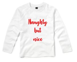 Kerst Shirt NAUGHTY BUT NICE