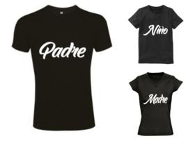 Twinning shirts Padre , Madre , Nino