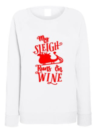Kerst Sweater MY SLEIGH RUNS ON WINE