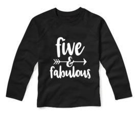 Verjaardagsshirt FIVE AND FABULOUS
