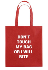Canvas tas DON'T TOUCH MY BAG