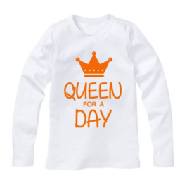Koningsdag shirt QUEEN FOR A DAY