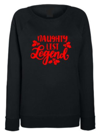 Kerst Sweater NAUGHTY LIST LEGEND