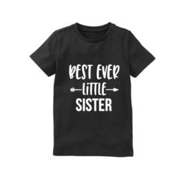 Shirt BEST EVER LITTLE SISTER zwangerschap bekendmaking