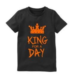 Koningsdag shirt KING FOR A DAY