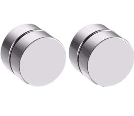 Magnetische oorbellen SILVER