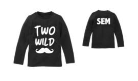 Verjaardagsshirt two wild snor