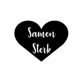 SAMEN STERK RAAMSTICKER