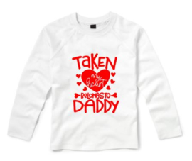 Valentijns shirt MY HEART BELONGS TO DADDY
