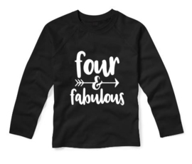 Verjaardagsshirt FOUR AND FABULOUS