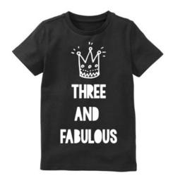 Verjaardagsshirt Three and fabulous