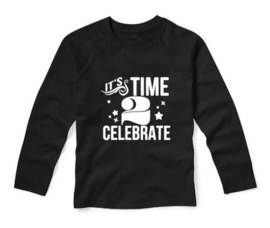 Verjaardagsshirt IT'S TIME 2 CELEBRATE