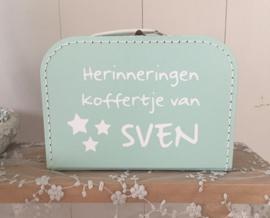Koffertje met naam herinneringen