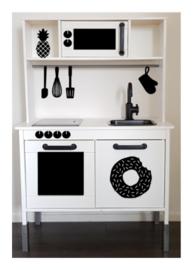 Ovenruit sticker speelgoed keukentje