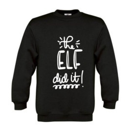 Kerst Sweater THE ELF DID IT