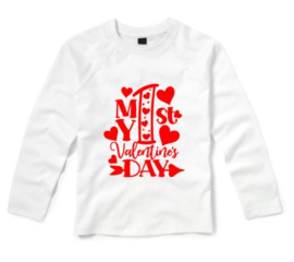 Valentijns shirt MY FIRST VALENTINES DAY