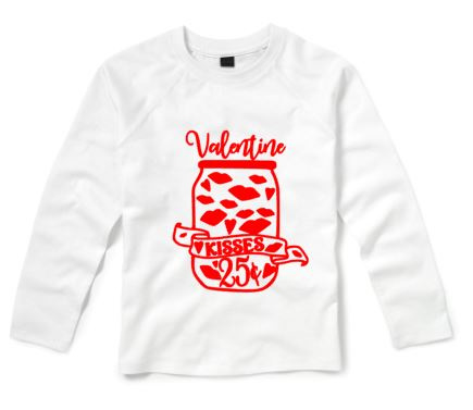 Valentijns shirt VALENTINE KISSES