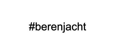 #berenjacht RAAMSTICKER