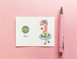Illeke minikaartje Froukje de Flamingo