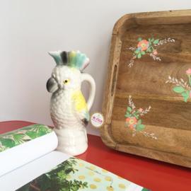 RICE handbeschilderd houten dienblad