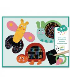 DJECO Scratch cards - Funny Animals 3 jr. +
