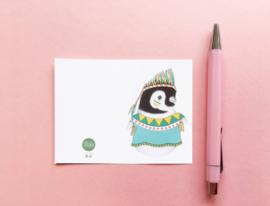 Illeke minikaartje Lola de Pinguin