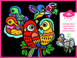 DJECO fluwelen kleurplaten baby birds 3 jr. +
