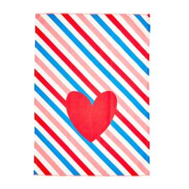 RICE theedoek - Candy Stripes print  (nieuwe collectie 'Choose Happy' 2021)