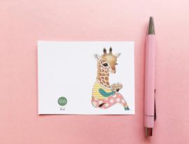 Illeke minikaartje Guusje het Girafje