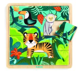 DJECO  houten puzzel Puzzlo Jungle 3 jr. +