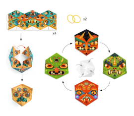 DJECO Paper Crafts - Flexmonsters  7 jr. +
