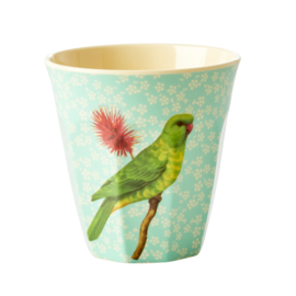 RICE beker - Vintage bird print - Green