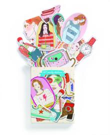 DJECO Doosje met 50 stickers - Nathalie 3 jr. +