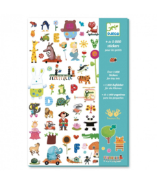 DJECO 1000 stickers For Little Ones  -  4 jr. +