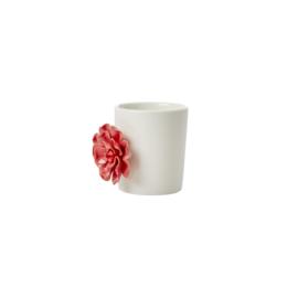 RICE (bloem) potje met bloem - rood