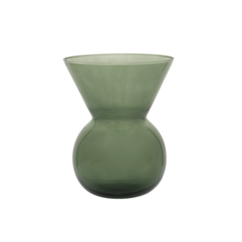 Urban Nature Culture - vaas S - Duck Green - gerecycled glas by Mieke Cuppens