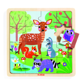 DJECO  houten puzzel Puzzlo Forest 3 jr. +