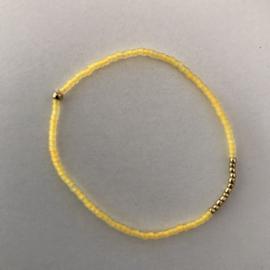 Loffs armband Tiny - zacht geel