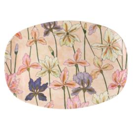 RICE melamine groot bord - Iris print