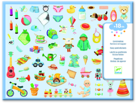 DJECO 300 stickers - My Little World 18 mnd. +