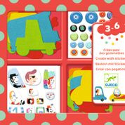 DJECO Create with stickers - I love cars  - 3 jr. +