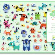 DJECO stickers - My Little Friends 100 puffy stickers 3 jr. +