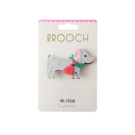 RICE glitter broche Hondje -  3 jr. +